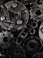 sucata de metal aço texturas e padrões designs criativos foto