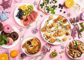 mesa de jantar de natal foto