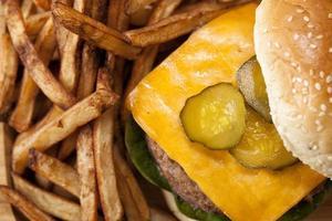 hambúrgueres saborosos filmado em estúdio