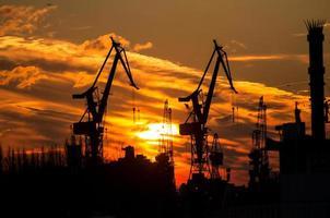 silhueta do porto em Hamburgo