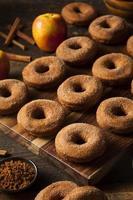 rosquinhas de cidra de maçã quente foto