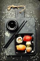 conjunto de sushi foto