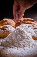 farinha e pão