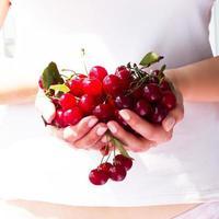cereja suculenta e madura