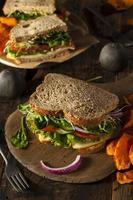 sanduíche vegetariano vegetariana saudável foto