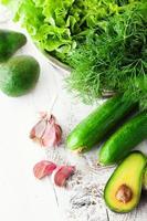 mistura de vegetais verdes foto