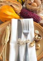 configuração de mesa outono