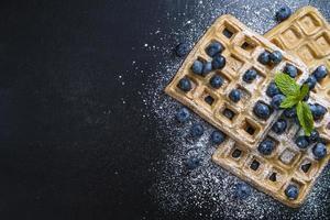 waffles com mirtilos foto
