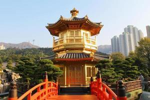 o pavilhão, jardim de nan lian, hong kong foto