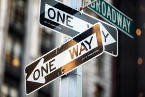 placa de rua na broadway em manhattan, Nova Iorque
