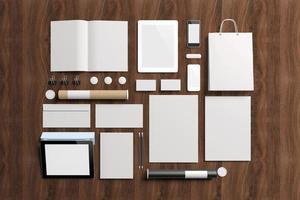 elementos de identidade corporativa em branco