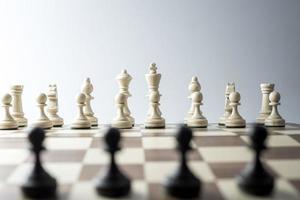figura de xadrez, estratégia de conceito de negócio, liderança, equipe e sucesso