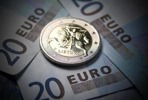 dinheiro novo em euros da lituânia