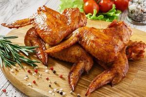 asas de frango frito foto