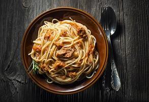 espaguete com atum foto