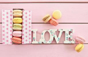 macarons coloridos foto