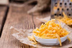 queijo cheddar (ralado) foto