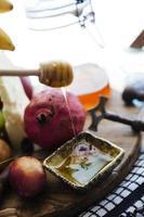 queijo e frutas foto