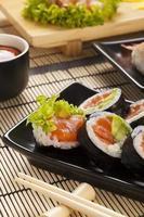 a composição do sushi