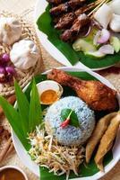 prato de arroz malaio foto