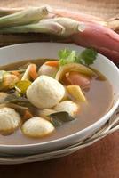 sopa tailandesa de tom-yom foto