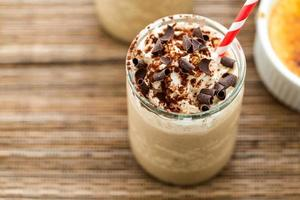 café creme brulee bebida fria foto