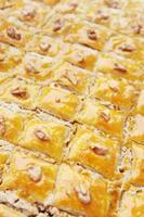baklava de sobremesa foto