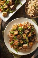 tofu caseiro salteados foto
