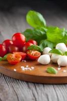 tomate cereja com mussarela foto