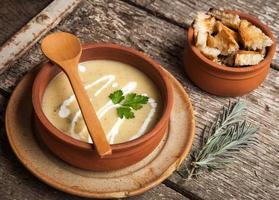 sopa de legumes caseira foto