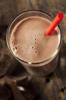 refrescante delicioso leite com chocolate foto