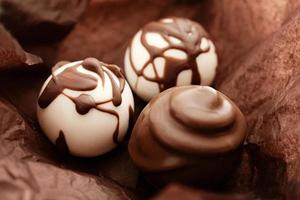 bombons de chocolate foto