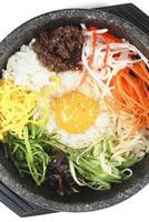 comida coreana bibimbap foto