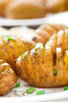 acordeão batatas assadas foto