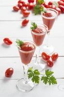 cocktails de suco de tomate