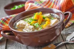 sopa de carne foto