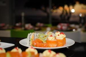 jantar de sushi foto