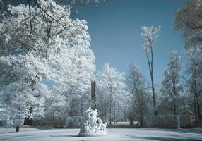 estátua de mármore infravermelho foto
