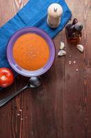 sopa de creme de tomate foto