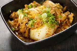 carne de porco kimchi foto