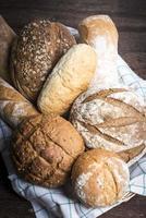 seleção de pão
