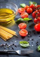 ingredientes de alimentos frescos foto