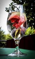 água com infusão de frutas foto