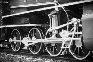 vintage velho trem, roda de trem