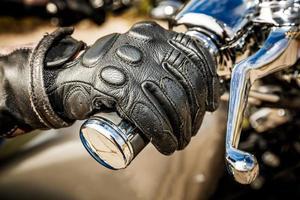 luvas de corrida de moto foto