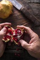 sementes de romã foto