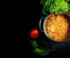 arroz basmati estendido foto
