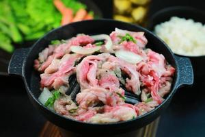 bulgogi, carne marinada coreana foto