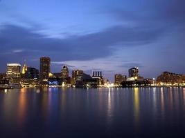 skyline de baltimore foto