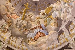 trnava - coroação do afresco barroco da virgem maria